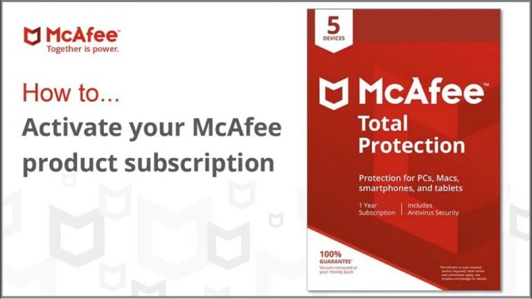 activate McAfee subscription
